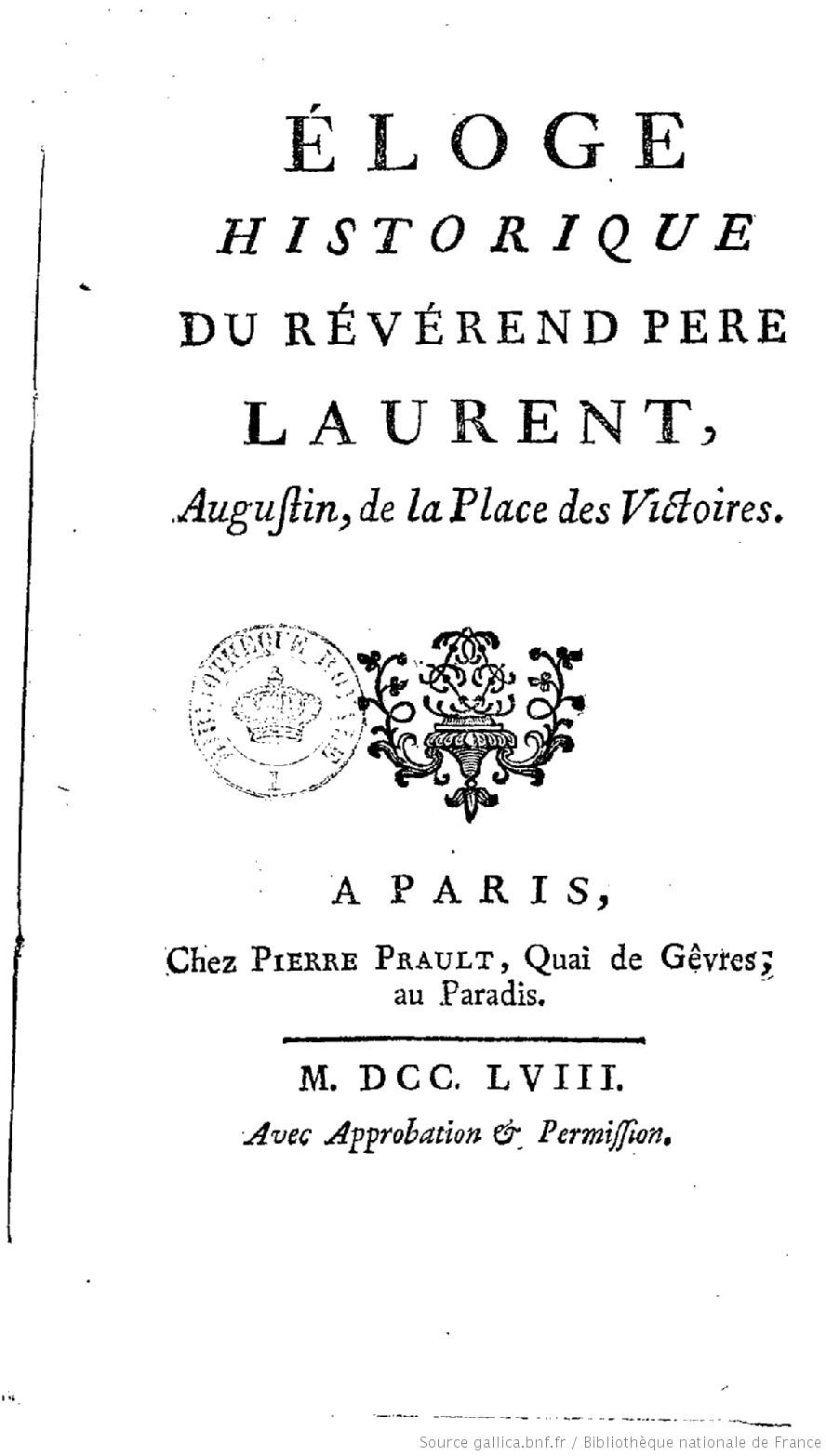 Éloge historique du R. P. Laurent - René de La Tour du Pin